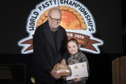 Photograph by Emily Whitfield-WicksWolrd Pasty Championships. Eden Project. The Winners. Daisy Lovejoy.