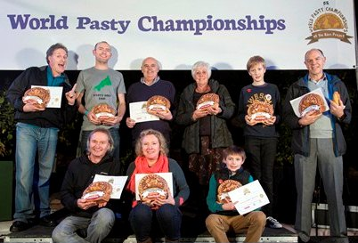 Photograph by Emily Whitfield-Wicks Eden Pasty Champ 2014. The winners.
